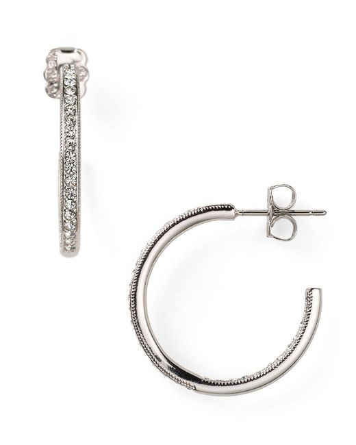 Nadri | Metallic In Out Hoop Earrings | Lyst