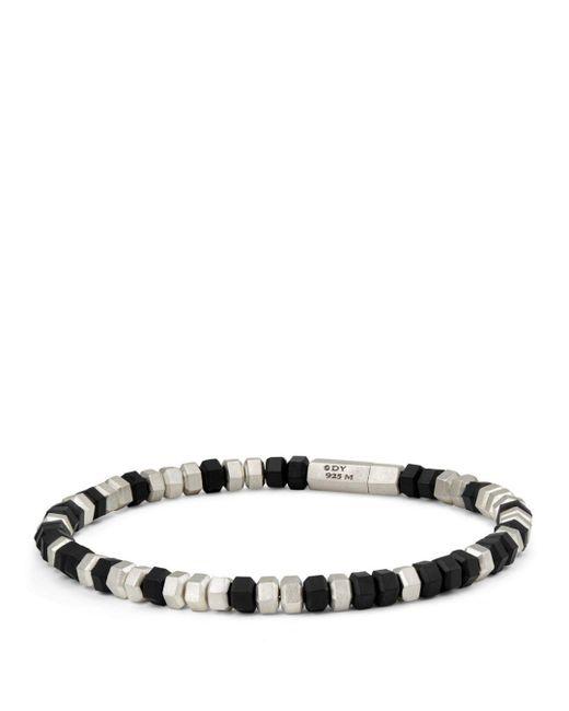 David Yurman - Hexagon Bead Bracelet In Black for Men - Lyst