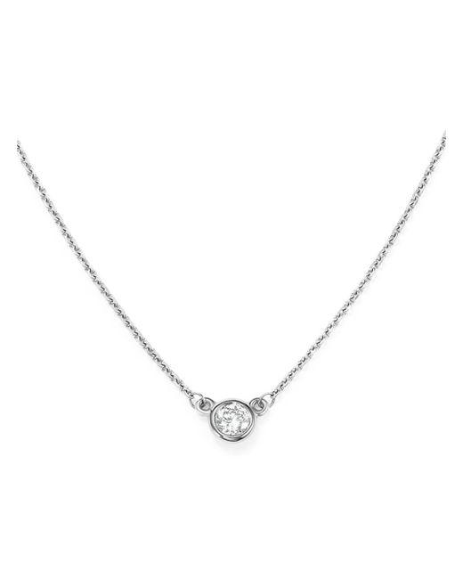 Bloomingdale's - Diamond Bezel Set Pendant Necklace In 14k White Gold, .15 Ct. T.w. - Lyst