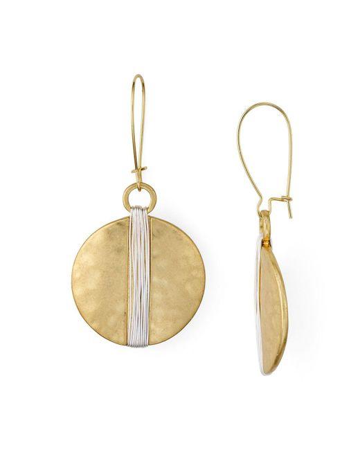 Robert Lee Morris | Metallic Shepards Hook Disc Earrings | Lyst
