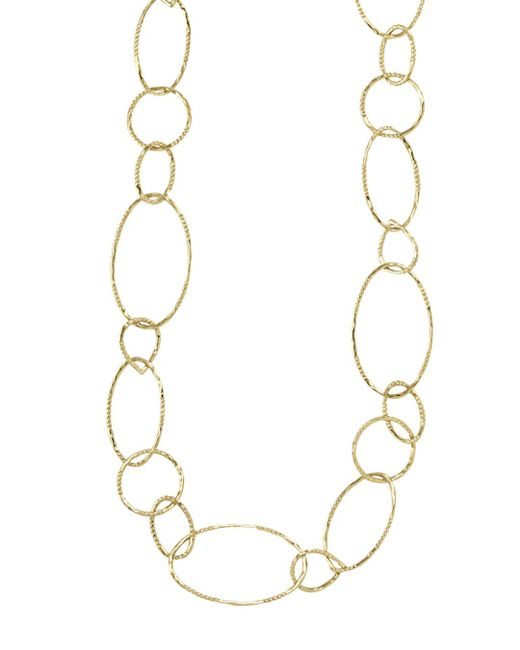 Lagos Metallic 18k Gold Link Necklace