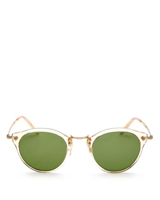 Oliver Peoples - Green Men's Round Sunglasses for Men - Lyst