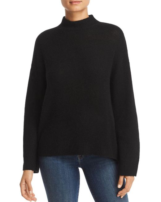 C By Bloomingdale's Black Mock - Neck Cashmere Sweater