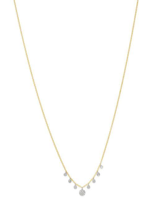 Meira T - Metallic 14k Yellow & White Gold Diamond Multi Disc Pendant Necklace - Lyst