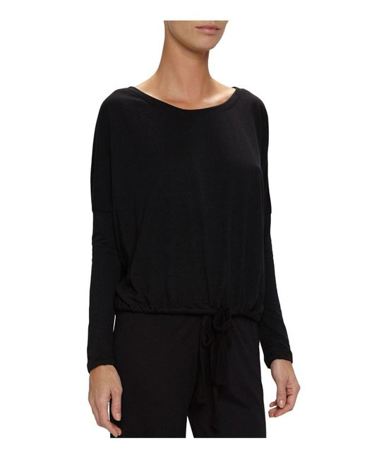 Eberjey - Black Heather Slouchy Tee - Lyst