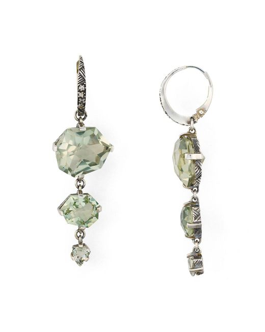 Stephen Dweck | Green Amethyst Drop Earrings | Lyst