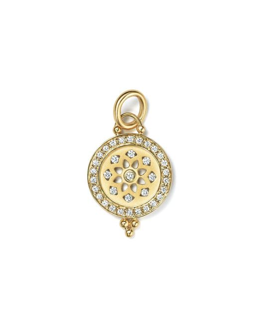 Temple St. Clair - Metallic 18k Gold Halo Mandala Cutout Pendant With Pavé Diamonds - Lyst