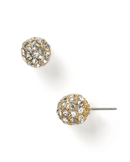 Carolee | Metallic Pave Ball Earrings | Lyst