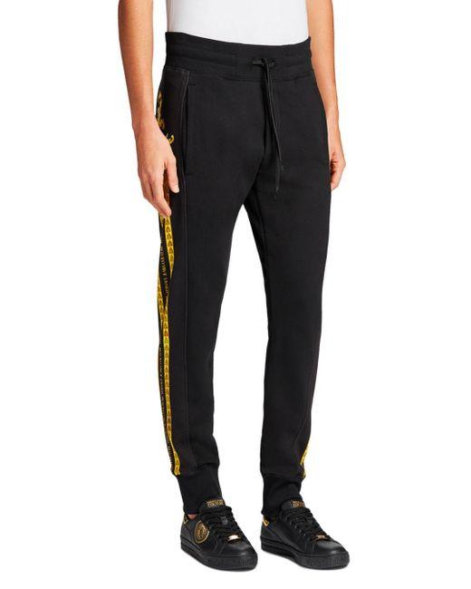 Versace Jeans Black Baroque Logo Joggers for men