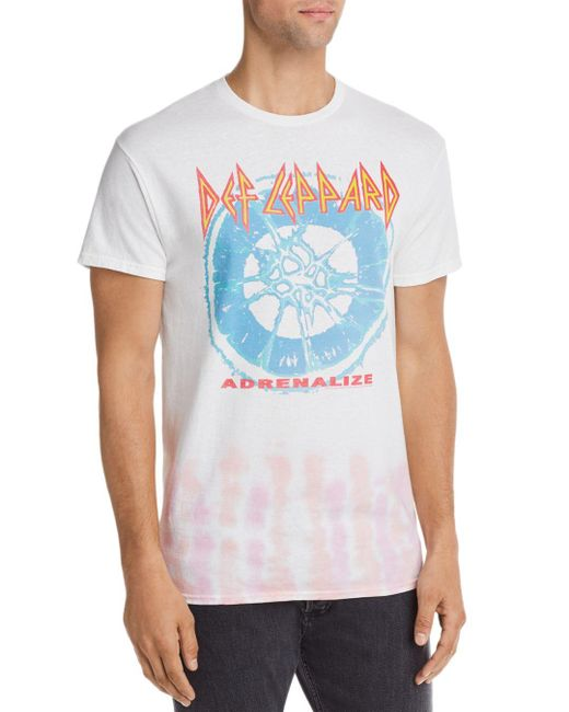 Junk Food Blue Def Leppard Graphic Tee for men