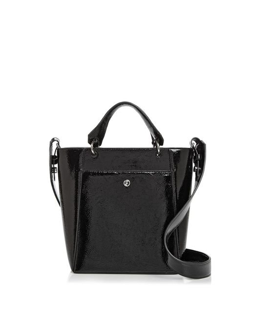 Elizabeth and James - Black Eloise Petit Patent Leather Crossbody Tote - Lyst