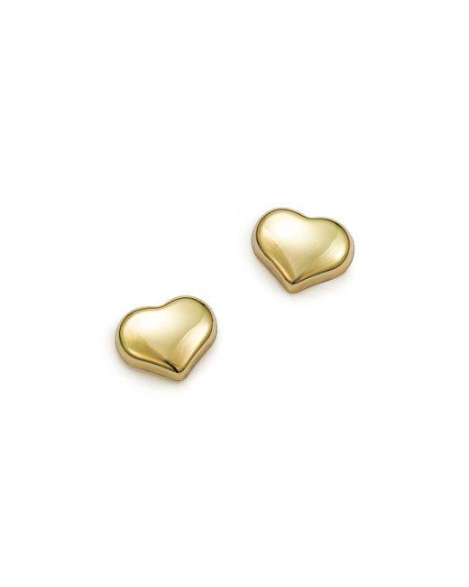 Roberto Coin | Metallic 18k Small Yellow Gold Heart Earrings | Lyst