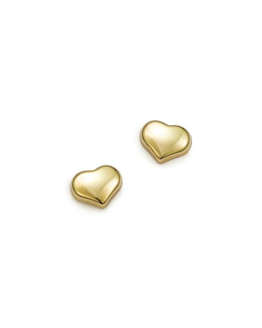 Roberto Coin | Metallic 18k Small Yellow Gold Heart Earrings | Lyst