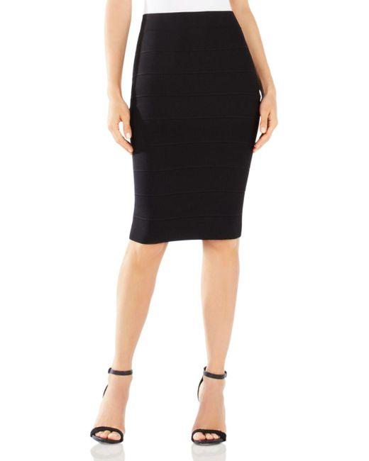 BCBGMAXAZRIA - Black Pencil Skirt - Leger Knit - Lyst