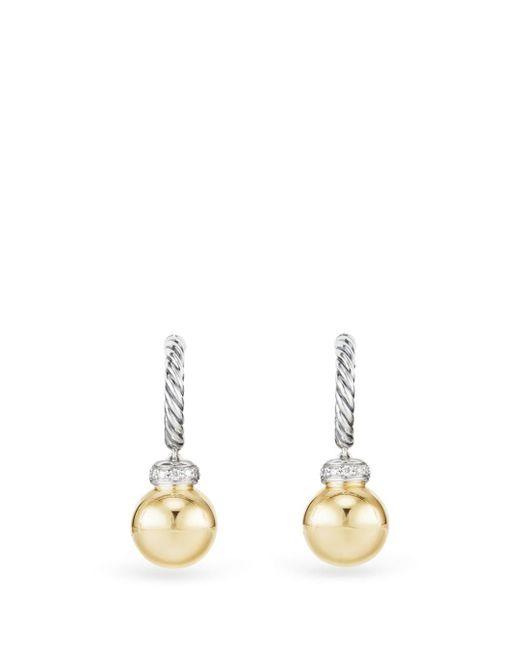 David Yurman Metallic Solari Hoop Earrings With Diamonds