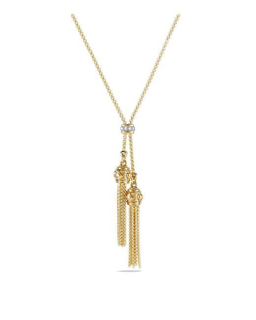 David Yurman - Metallic Renaissance Petite Necklace With Diamonds In 18k Gold - Lyst