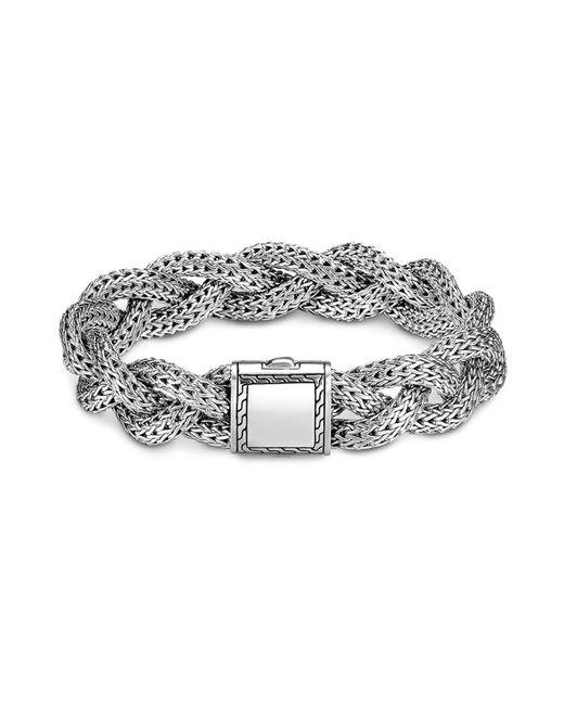 John Hardy | Metallic Classic Chain Sterling Silver Medium Braided Bracelet | Lyst