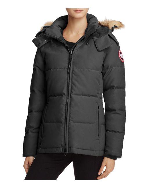 Canada Goose | Black Chelsea Down Coat | Lyst