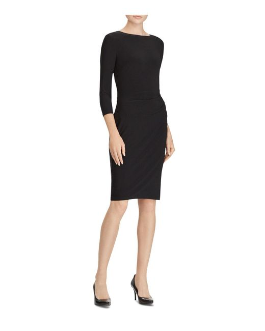 Ralph Lauren - Black Lauren Two-tone Sash Dress - Lyst
