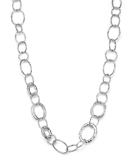 "Ippolita - Metallic Sterling Silver Short Necklace With ""bastille"" Links - Lyst"