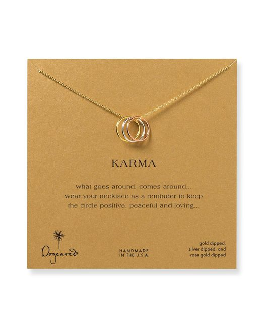 """Dogeared   Multicolor Triple Karma Mixed Metals Necklace, 18""""   Lyst"""