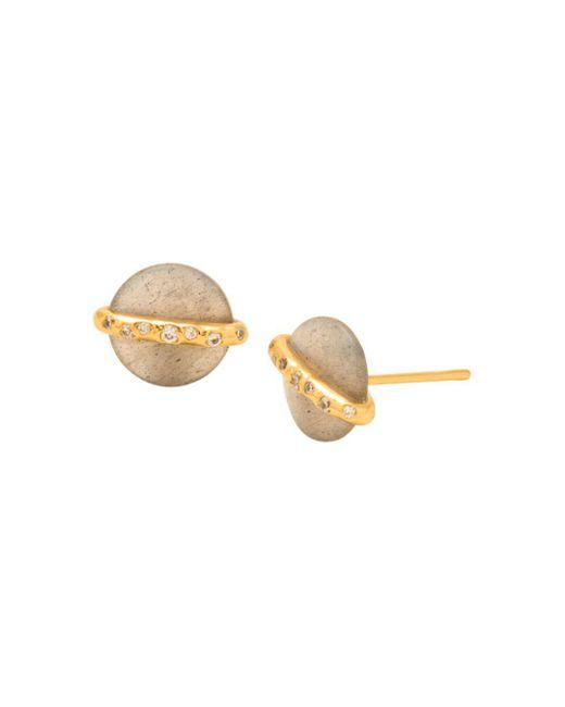 Gorjana - Metallic Brinn Shimmer Stud Earrings - Lyst