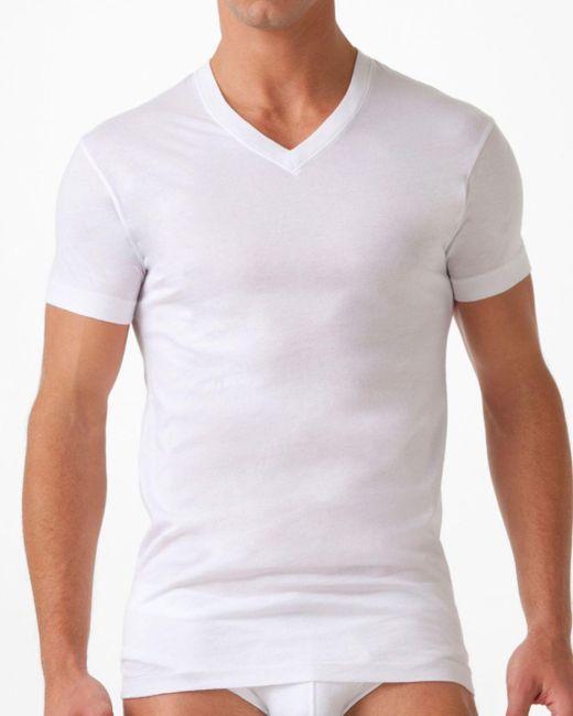 2xist Pima Cotton V-neck T-shirt, White for men