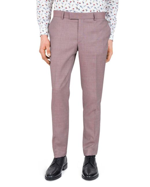 The Kooples - Red Psychedelic Diamond Slim Fit Dress Pants for Men - Lyst