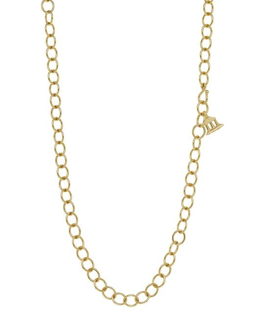 """Temple St. Clair   Metallic 18k Yellow Gold Oval Chain Necklace, 24""""   Lyst"""