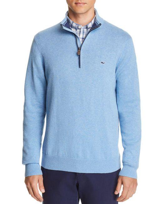 Vineyard Vines - Blue Palm Beach Quarter-zip Sweater for Men - Lyst
