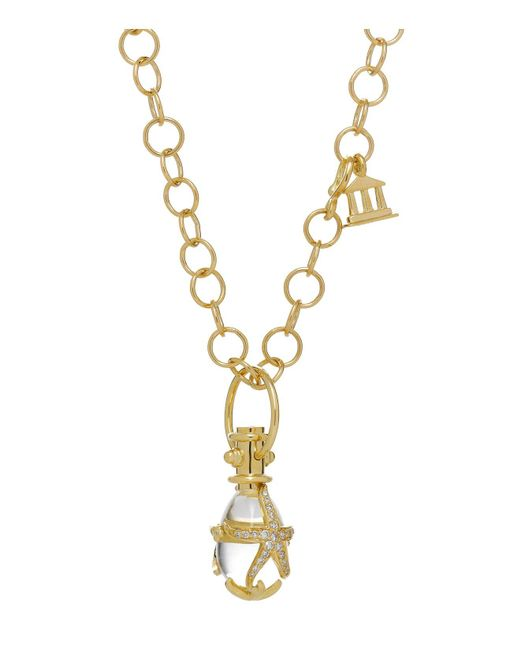 Temple St. Clair | Metallic 18k Yellow Gold Diamond Pavé Starfish Amulet | Lyst
