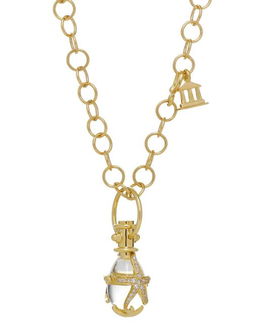 Temple St. Clair | Metallic 18k Yellow Gold Diamond Pave Starfish Amulet | Lyst