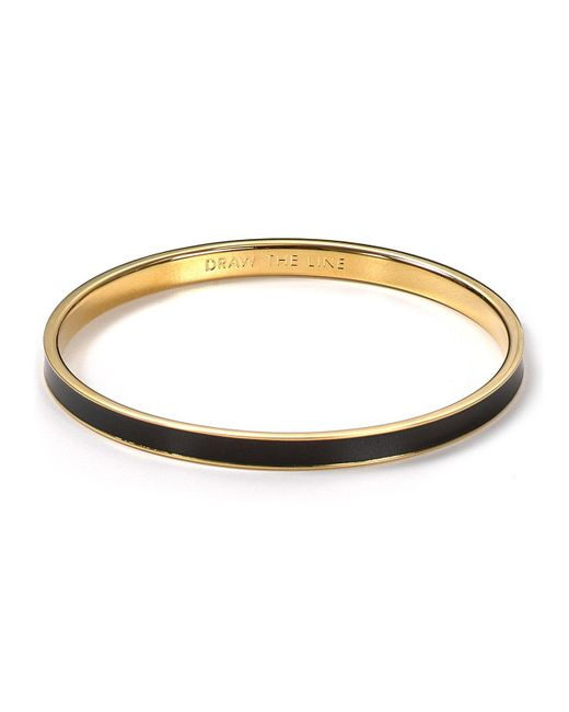 kate spade new york | Black Idiom Draw The Line Bangle | Lyst