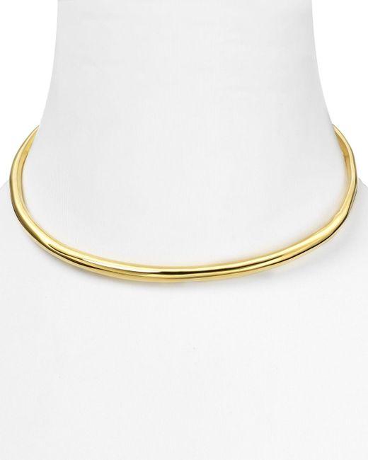 Alexis Bittar | Metallic Miss Havisham Liquid Gold Collection Thin Necklace | Lyst