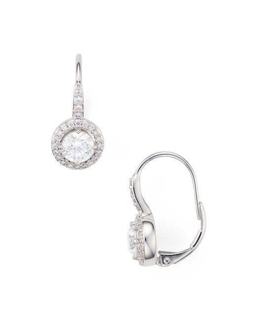 Nadri - Metallic Framed Leverback Earrings - Lyst