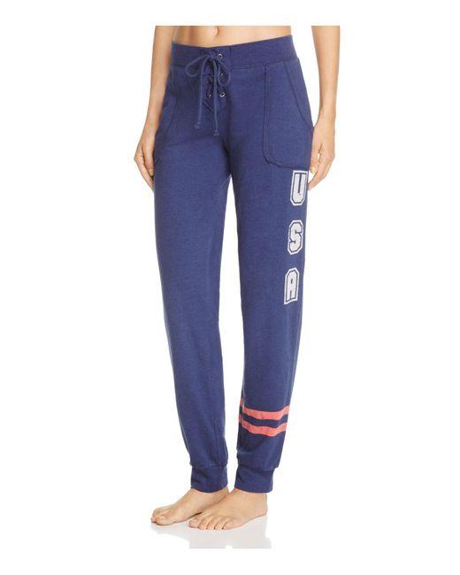 Pj Salvage | Blue All American Jogger Pants | Lyst