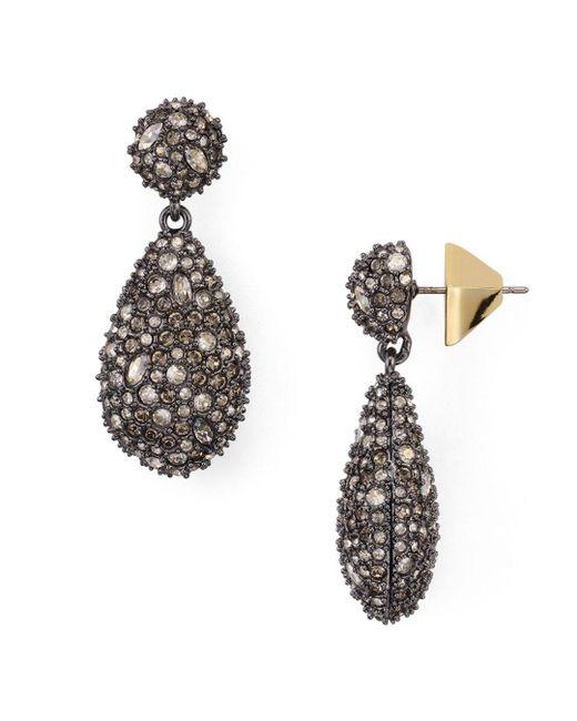 Alexis Bittar - Metallic Earring Capsule Swarovski Crystal Pod Drop Earrings - Lyst