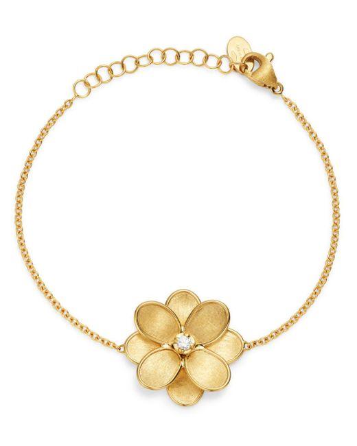 Marco Bicego Metallic 18k Yellow Gold Petali Diamond Chain Bracelet