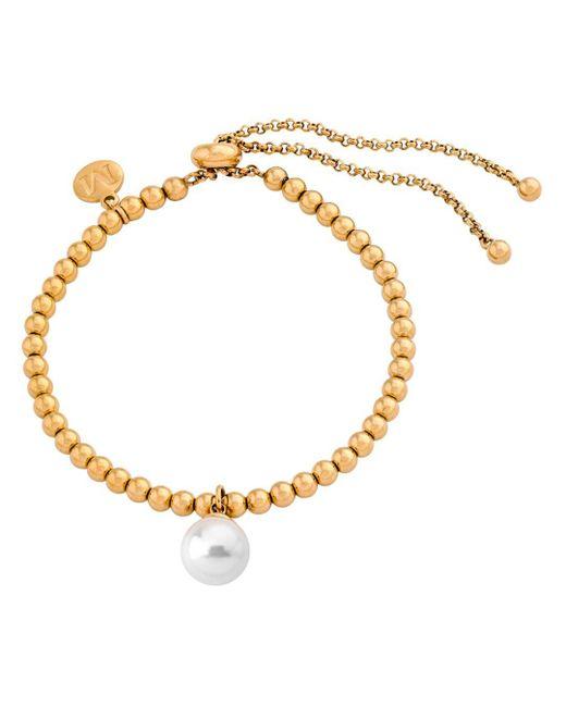 Majorica - Metallic Majorca Simulated Round Pearl Bracelet - Lyst