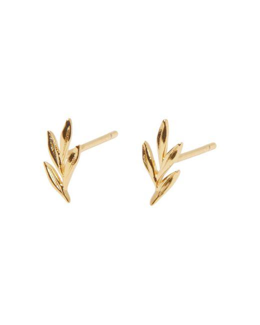 Gorjana Metallic Willow Charm Stud Earrings