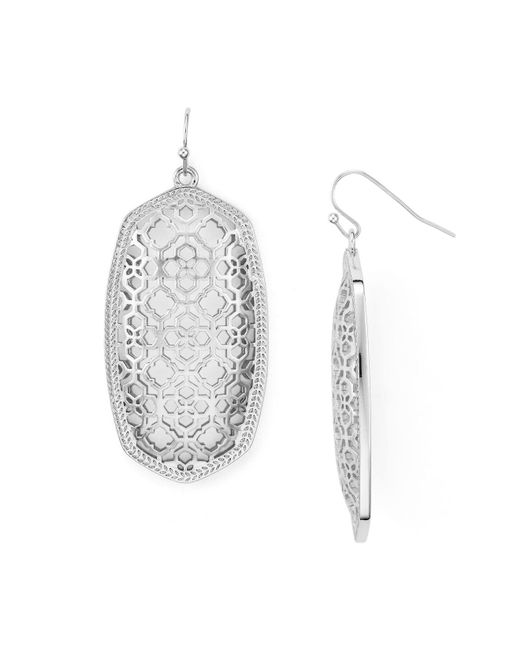 Kendra Scott | Metallic Filigree Danielle Earrings | Lyst
