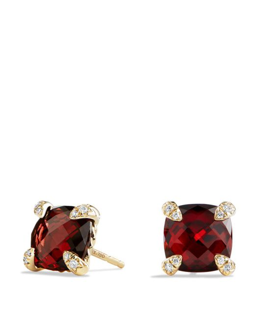 David Yurman - Red Châtelaine Earrings With Garnet In 18k Gold - Lyst