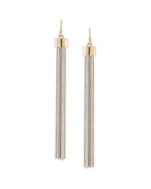 Trina Turk | Metallic Tassel Earrings | Lyst