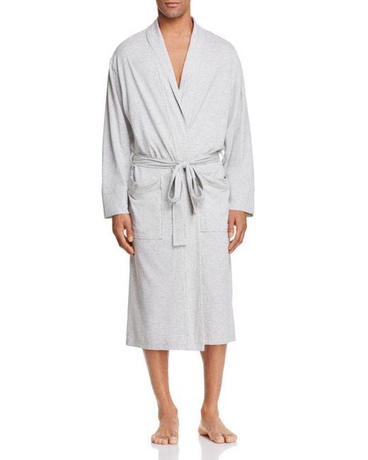 Daniel Buchler - Gray Peruvian Pima Cotton Robe for Men - Lyst