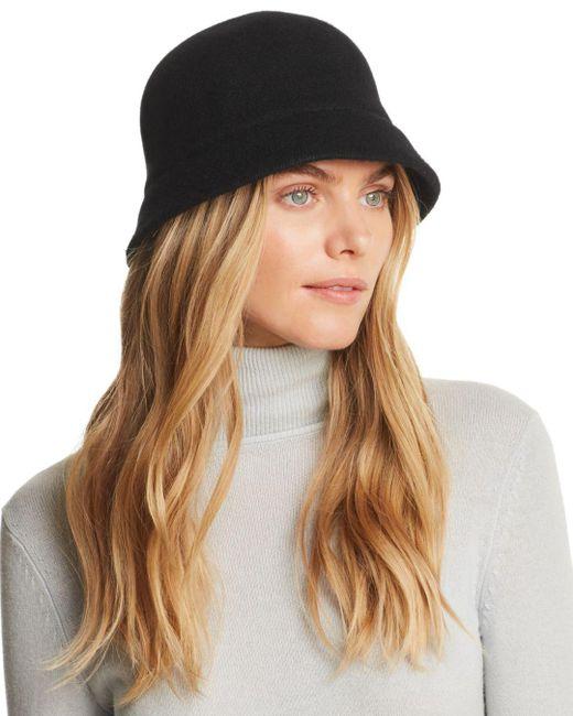 august hat company - Black Melton Cloche - Lyst