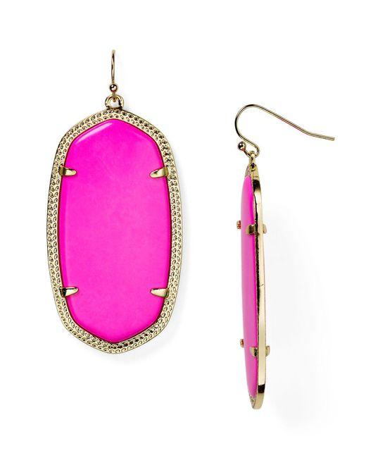 Kendra Scott - Pink Danielle Earrings - Lyst