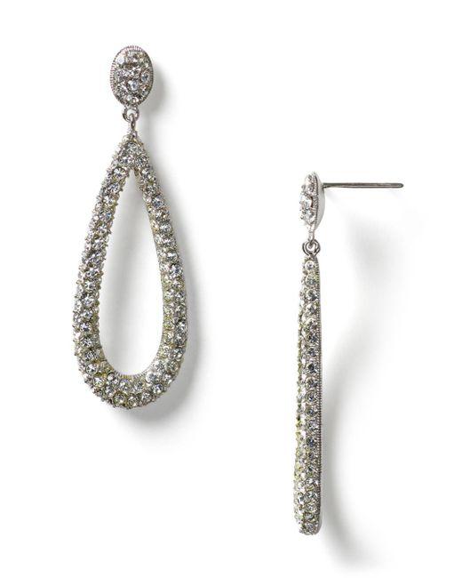 Nadri - Metallic Open Long Teardrop Earrings - Lyst