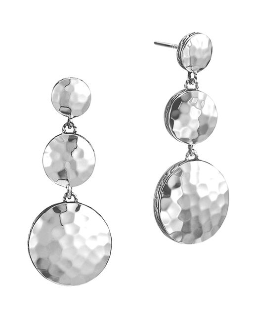 John Hardy | Metallic Palu Sterling Silver Triple Drop Linear Earrings | Lyst
