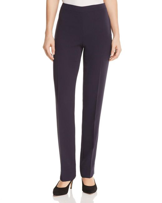 Lafayette 148 New York - Multicolor Bleecker Silk Straight-leg Pants - Lyst