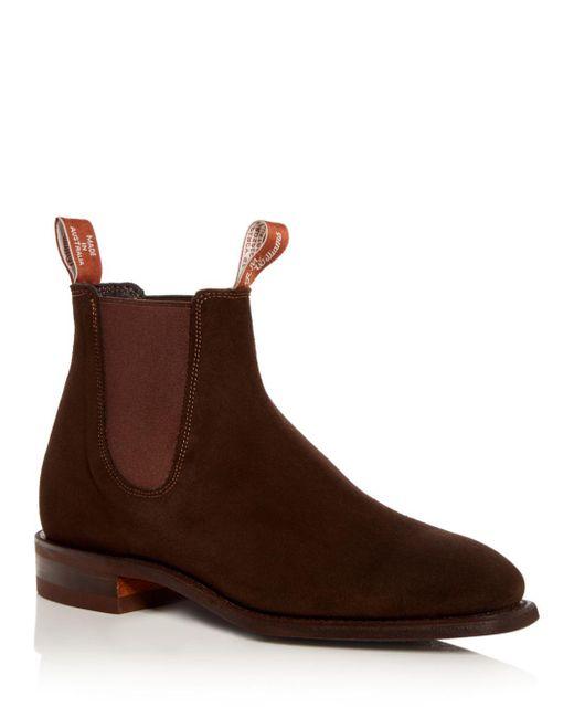 R.m. Williams Brown Men's Comfort Craftsman Suede Chelsea Boots for men